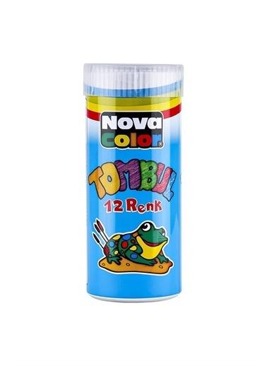 Nova Color Nova Color Mum Boya 12 Renk Tombul Teneke Kutu Beyaz
